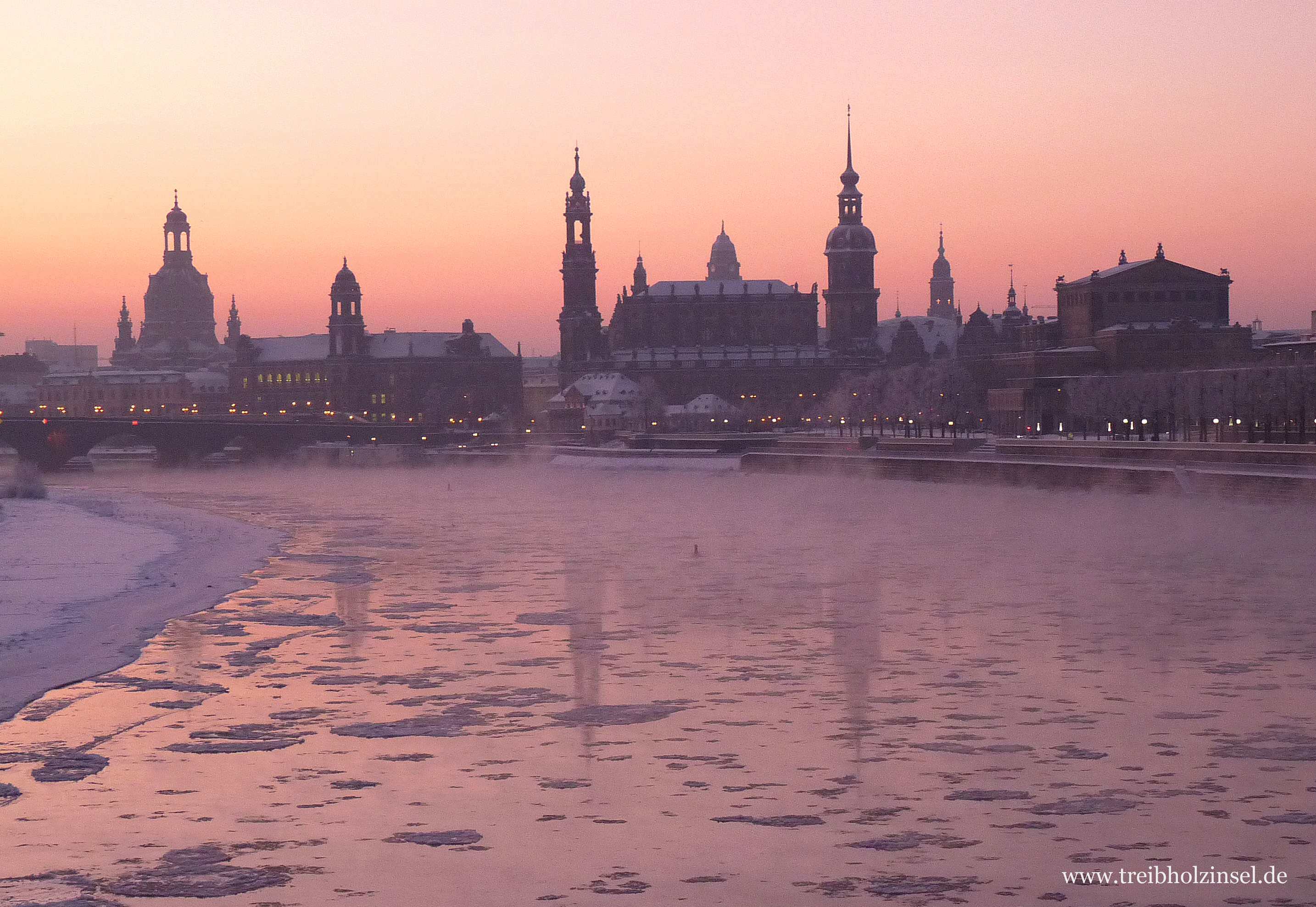 Winter Dresden Stadtansicht